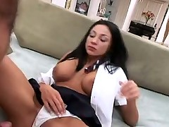 Hot Schoolgirl Pulls Her Panties To The Side To Fuck
