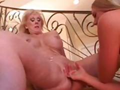 Lesbian MILF licking Pussy
