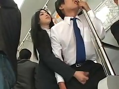 Asian Slut Attacks Guy In A Bus For Hot Handjob