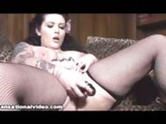 Chubby Goth Babe Pounded By Huge Cock