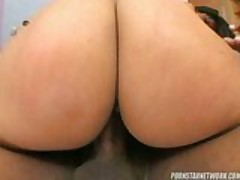 Two Latin sluts on one black cock