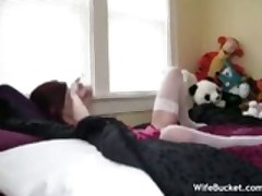 Young wife in a threesome