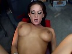 Tory Lane gets fucked in a garage