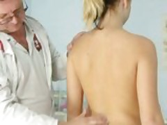 Misa visiting gyno clinic to have pussy speculum examined