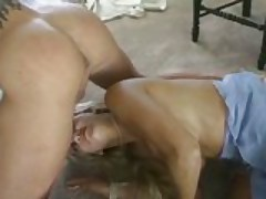 Sky Lopez takes two cocks at the same time