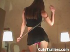 Ultra skinny teen stripping