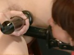 Gia DiMarco fisted, ass fucked and dominated in strict bondage