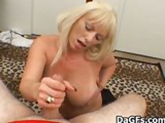 Mature Bj apropos an increment of Titfuck apropos Chunky boobs