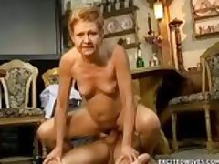 Granny seduced and fucked