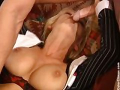 Vivian Schmitt - Cheating Housewife fucked by two guys