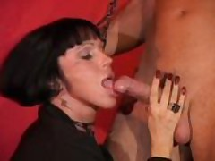 Valentine Demy - Italian Milf fucked by duo guys