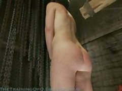 Hot slave slut get used and whipped hard
