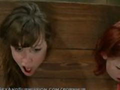 Seda and Lilla are captured and fucked in bondage