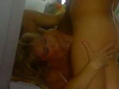 Nasty milf fucked by two guys