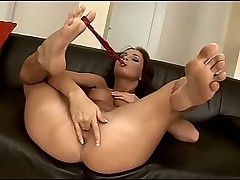 Foot show and hot fingering