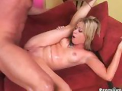 Sidnee working out huge cock