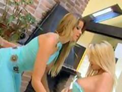 Two blonde lesbians