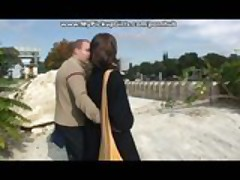 Chick with cool boobs does some anal fuck