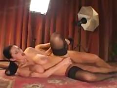 Milf fucks the camera man during her lingerie photoshoot