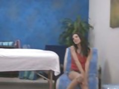 Girl blows her masseuse and gets fucked