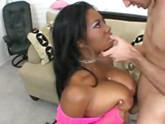 Black busty mom suck white cock