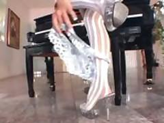 Cassia Riley Masturbates In Stockings And A Garter Belt