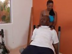 Semmie Gets Ass Worked Out in Gym