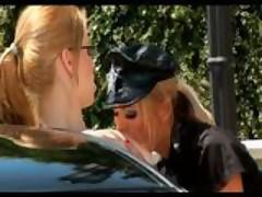 Horny Blonde Female Officer