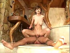 Teen fucked in bathroom until cumshot