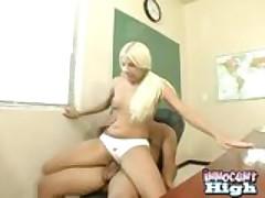Blonde Schoolgirl Gets Her Sweet Pussy Screwed By Her Professor