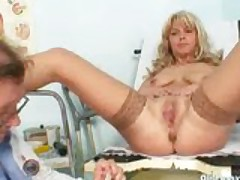 Jirina With Her Legs Wide Open On Gyno Chair