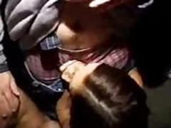 Public blowjob at a school party
