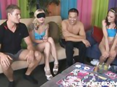 Huge group sex party with eight amateurs involved!
