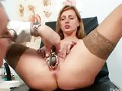 Viktorie hairy pussy gyno gaping exam at clinic