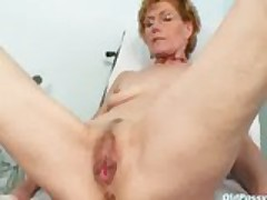 Dirty old lady Mila needs gyno clinic examination