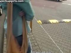 Brunette's ass drilled by stranger