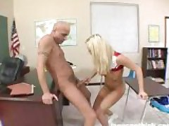 Blonde Cheerleader Bree Olson Rammed Hard By Her Professor