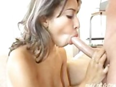 Teen Latina sucks and gets fucked