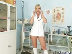 Alexa Bold performing her Nurse Duties
