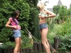 vanessa and yasmin outdoors