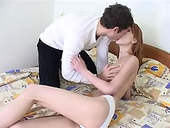 Russian girl getting her snatch drilled