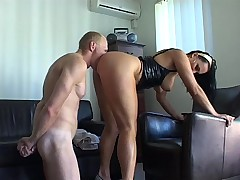 He worships her ass with total submission