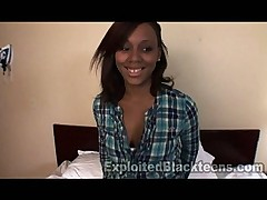 Cute 18yr old Ebony Teen in POV