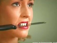 Nylon Babe Dildoing Pussy Hard
