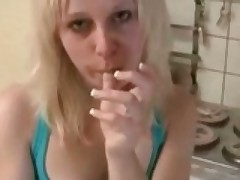 German Blonde Fucked In The Kitchen
