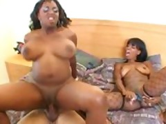 Two Ebony Ho's, One Lucky Old Man