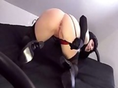 Masturbating In Corset & Stockings