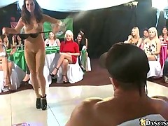 Sexy strip tease and lots of blowjobs