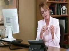 Samantha Stone Office Masturbation