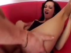 Angelina Crow sodomized on the sofa